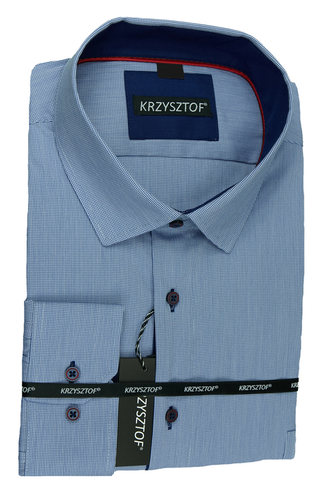 Koszula sportowa, niebiesko biała krata 182 188 46